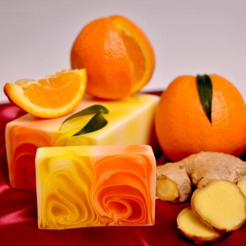 Savon naturel d'Orange et Gingembre- Handmade