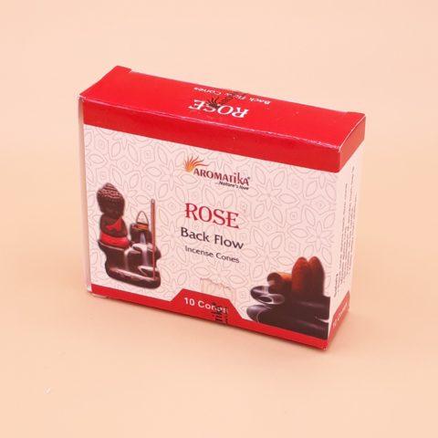 Encens Rose intense de Damas en cônes percés pour fontaine à encens - Par 10