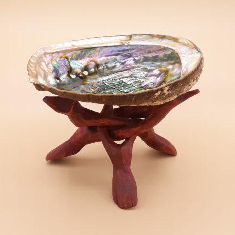 Coquille d'Abalone de purification & régénération avec pied de présentation - Modèle moyen