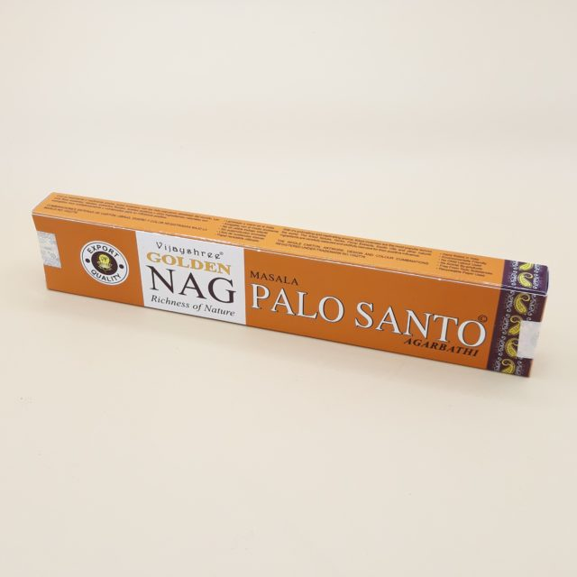 Encens Satya Masala Agarbatti Golden Nag Champa Palo Santo en bâtonnets - Par 15g