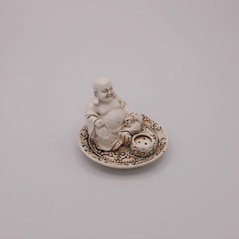 Porte encens Happy Bouddha - Pour bâtonnets et cônes classiques