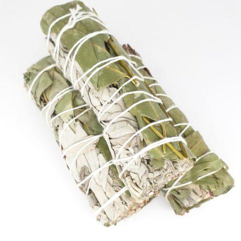 Torche de sauge Californienne & feuilles d'eucalyptus - +/- 12cm et 35g