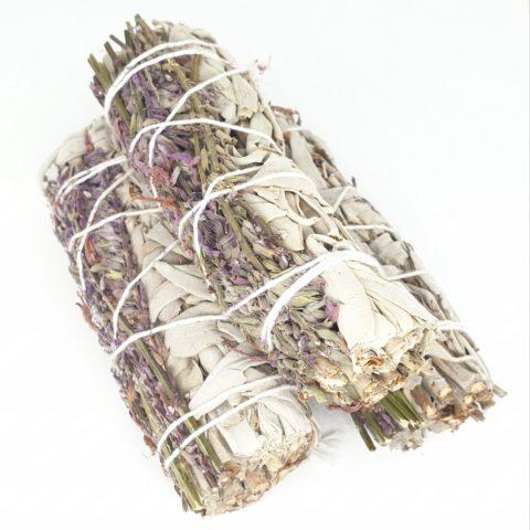 Torche de sauge blanche Californienne & Lavande méditéranéenne - +/- 12 cm et 35g