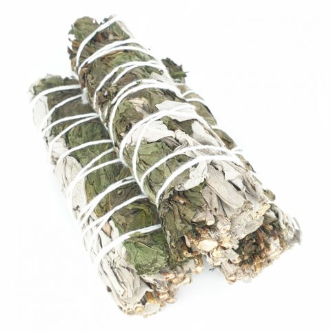 Torche de sauge blanche Californienne & menthe poivrée - +/- 12cm et 35g