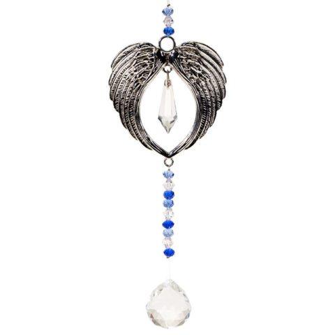 Suspension ailes d'Ange avec cristal Feng-shui