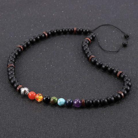 Collier des 7 Chakras pour Homme - Perles de 8mm