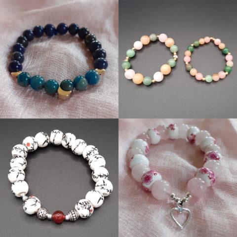 Bracelets personnalisés en pierres semi-précieuses