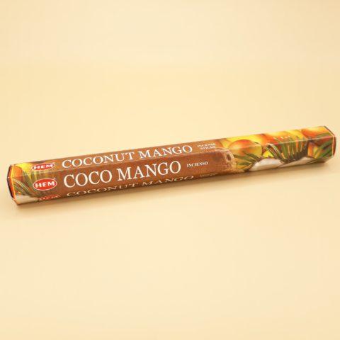 Encens HEM tropical noix de coco & mangue en bâtonnets - Par 20