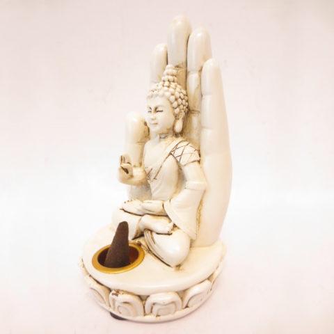 Porte encens mudra & bouddha de méditation